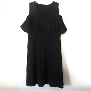 Alyx cold shoulder little black dress